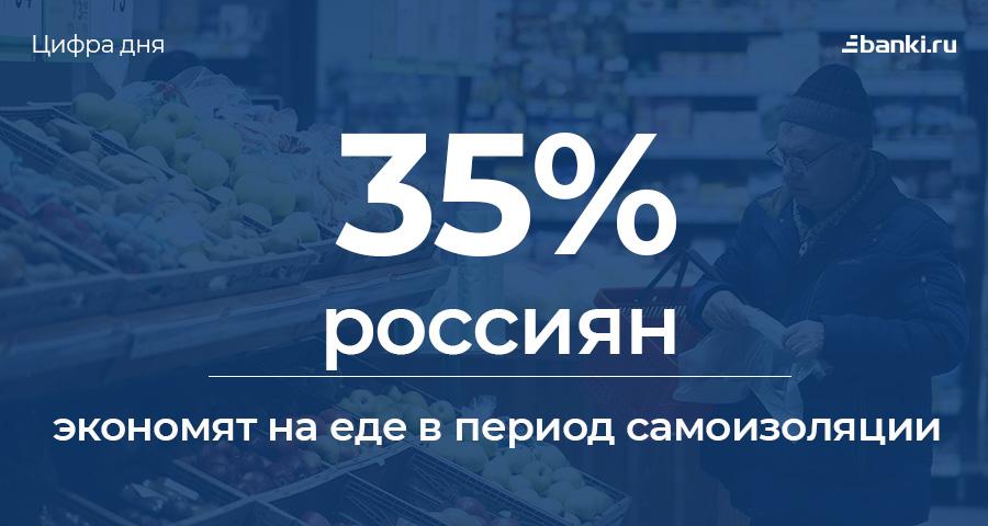 Цифра дня: сколько россиян экономят на еде